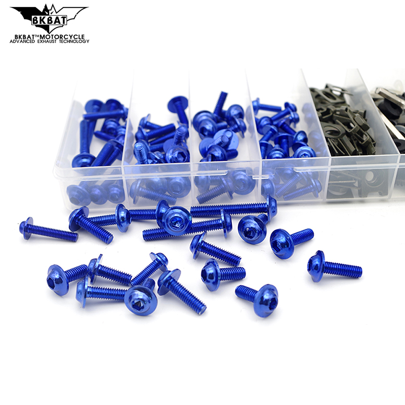 Universal Motorcycle Fairing Bolt <font><b>Kit</b></font> <font><b>Body</b></font> Screw Set FOR <font><b>Yamaha</b></font> r1 <font><b>r6</b></font> fz1 Suzuki gsxr 1000 drz 400 Honda bros image