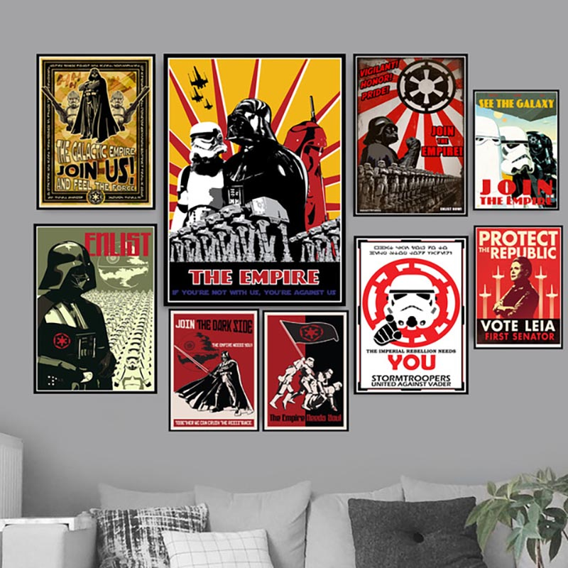 Canvas Pictures Home Decoration Nordic Style Painting Star Wars Classic Movie Wall Art HD Printed For Living Room Poster Modular image