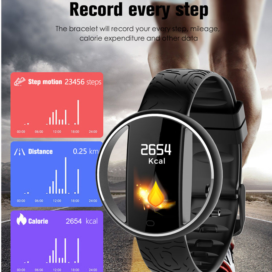 LIGE smart bracelet Mens latest couple watch heart rate monitor pedometer fitness tracker sports waterproof smart wristband in Smart Wristbands from Consumer Electronics