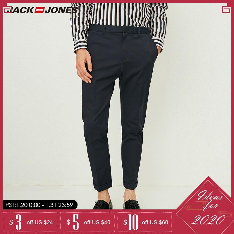 Jack Jones Men Cotton Casual Pants Leisure Business Nine-minute Pants Men Office Trousers | 218314513