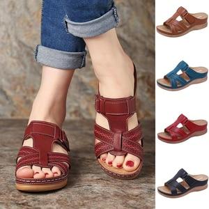 Women's Summer Open Toe Comfy Sandals Premium Orthopedic Low Heels Walking Sandals Corrector Cusion Gift for Women Girl(China)