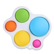 Juguetes sensoriales simples para bebés, juguete sencillo de hoyuelos, tablero de silicona, hoyuelos simples, Educativo Para edades tempranas