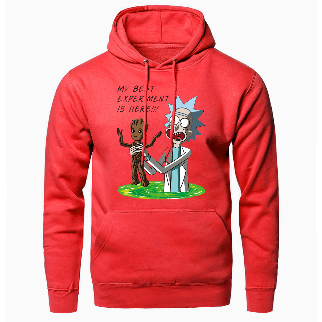 Man Handsome Jacket 2020 Spring Autumn Popular Coat Men Fashion Groot Cartoon Printing Hooded Hoodie Casual Comfort Clothing