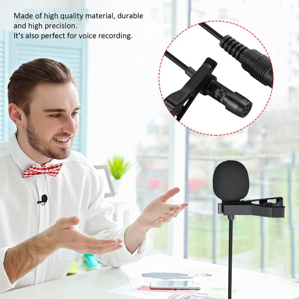 Mini Lavalier Mic Microphone Case For Iphone Smartphone Recording Pc Clip-On Lapel Support Microphone Answering Phone