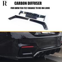 3pcs /set Carbon Fiber Rear Bumper Diffuser for BMW F30 F32 F33 F36 Change to Taiwan AN & Good Go M3 M4 Look 2012 - 2018