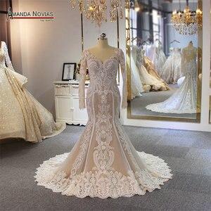 Image 1 - Lace mermaid wedding dress customer order color 2019 bride dress