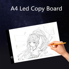 Digital Graphic Tablet A4 light table LED copy board Artist Thin Art Stencil Drawing Board Portable Electronic Pad