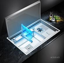 Скрытые крышки для кухонной раковины ручной работы asras 8250x