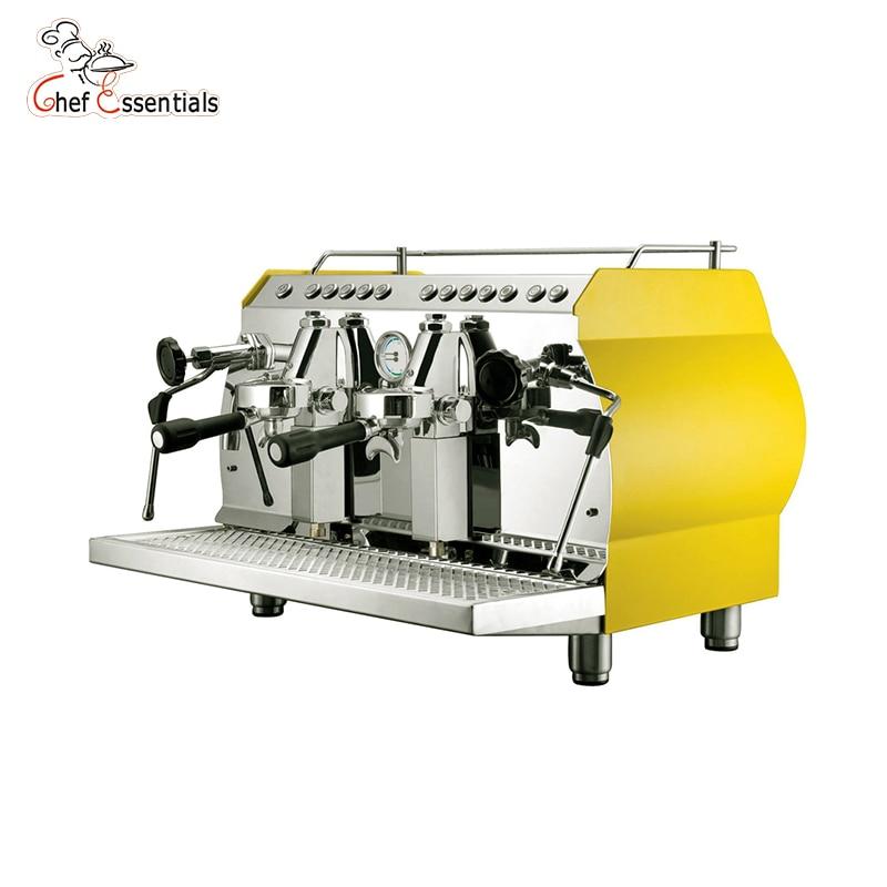 Купить с кэшбэком KC-11.2H Wholesale commercial coffee machine italian espresso 2 group espresso coffee maker making machine a cafe