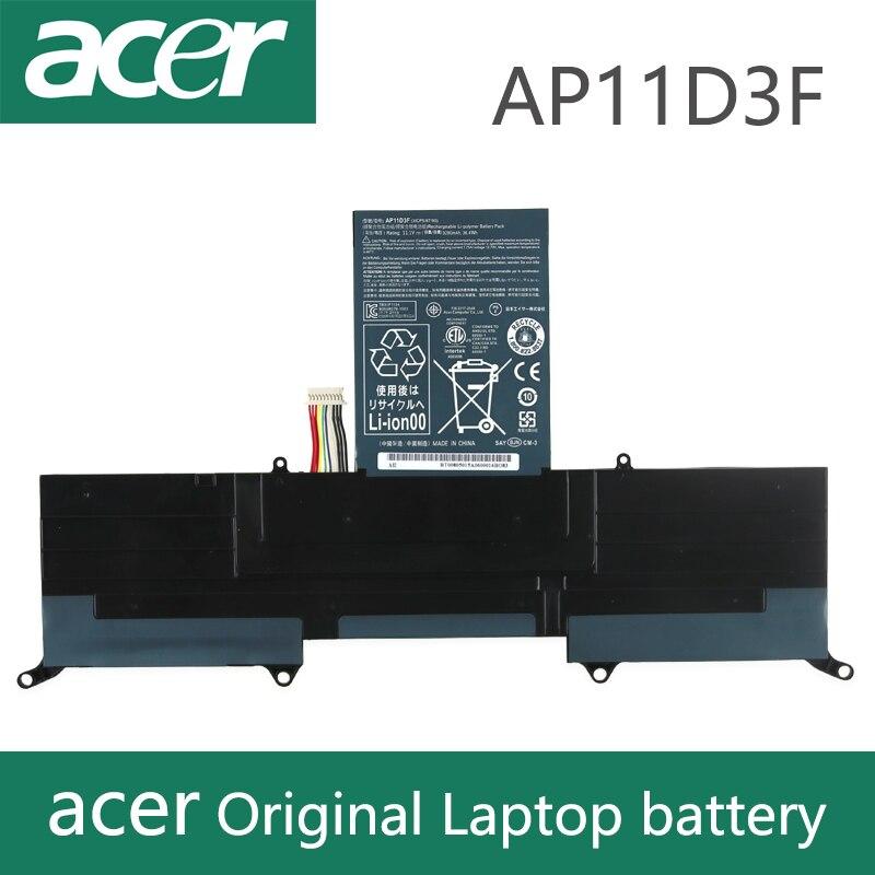 Original Laptop Battery For Acer  Aspire S3 S3-951 S3-391 MS2346 AP11D3F AP11D4F 3ICP5/65/88 3ICP5/67/90 11.1V 3280mAh  AP11D3F