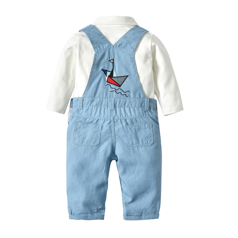 Хлопковый комплект из 3 предметов, комбинезон с длинными штанинами, комбинезон с длинными рукавами костюм для мальчиков, Модный комплект детской одежды для Маленьких Мальчиков Шапка комбинезон одежда для детей комплект для малышей, для новорожденных, одежда в подарок 3