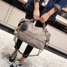 Large Capacity Women Handbags Vintage Scrub Soft Pu Leather Big Size Travel Boston Bag Female Shoulder Ladies Journey Bags