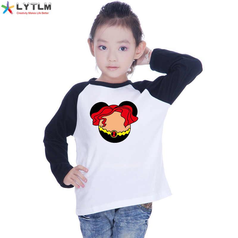 LYTLM الارملة السوداء زي الاطفال إنفينيتي الحرب المحملة قميص المنتقمون Endgame الفتيات T قميص طفلة الملابس الشتوية في طويلة الأكمام