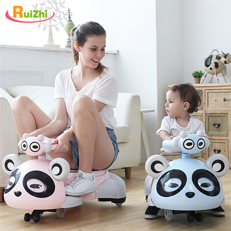 Ruizhi Children Lovely Panda Twist Car With Music Silent Wheel Baby Swing Car 1-3-6 Years Old Kids Outdoor Sports Toys RZ1213