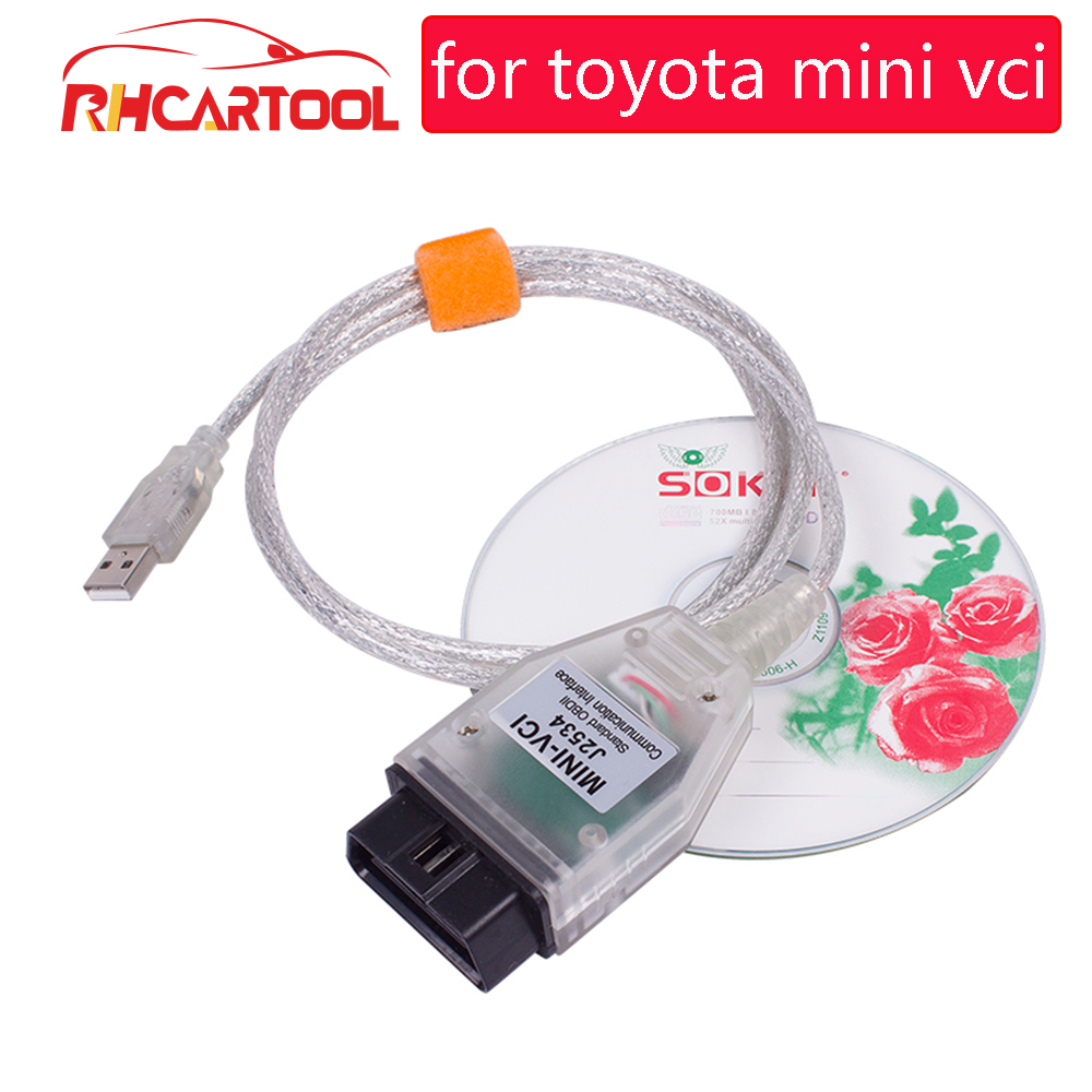 OBD2 V13.00.022 MINI VCI Interface FOR TOYOTA TIS Techstream Minivci FT232RL Chip J2534 OBDII OBD2 Diagnostic Tool