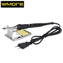 WMORE Electric Soldering iron LCD 80W 110V 220V Temperature adjustable Welding solder rion repair tool soldering iron tip stand newacalox anti static welding soldering solder iron tip cleaner cleaning steel wire with stand set repair tool