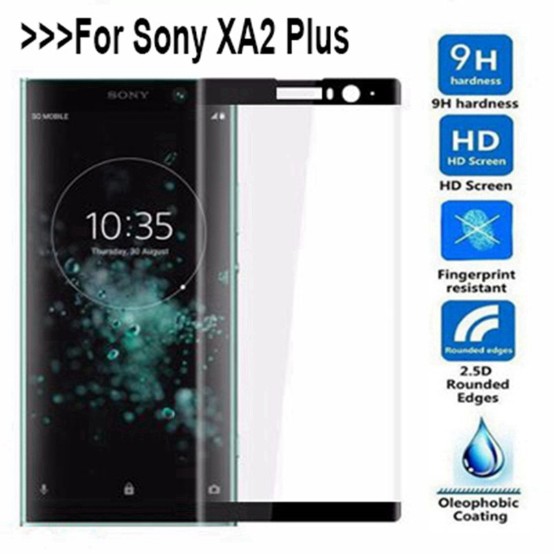 Full Curved 3D Screen Tempered Glass For Sony Xperia XA2 XA2 plus Protection Film