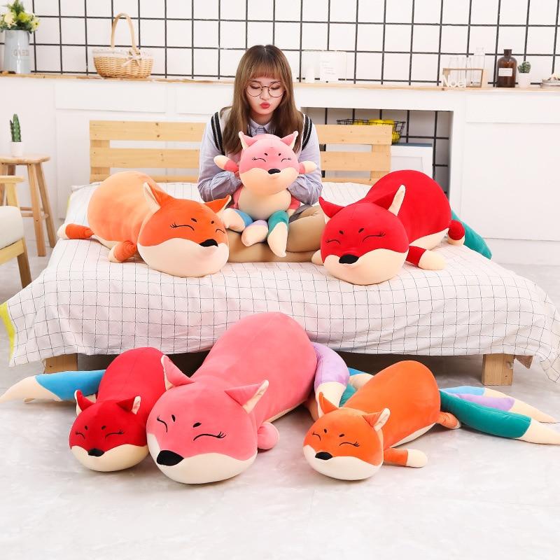 100-140cm Kawaii Dolls Stuffed Animals & Plush Toys for Girls Children Boys Toys Plush Pillow Fox Stuffed Animals Soft Toy Doll  - buy with discount
