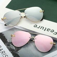 2019 Rimless Sunglasses Women Square Metal Frame Clear Lens