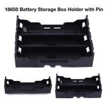 18650 Батарея ящик для хранения 3,7 V держатель литиевой батареи чехол со штифтовым соединением, с Тип 1/2/3 батарейки держатель PCB чехол Пластик контейнер
