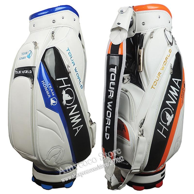 New Golf Bag High Quality PU Golf Clubs Bag In Choice 9.inch HONMA Golf Standard Bag Standard Ball Package Cooyute Free Shipping