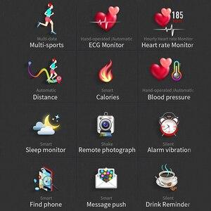 Image 5 - Cobrafly MX9 akıllı saat erkek spor ekg + PPG HRV kalp hızı kan basıncı izleme IP68 su geçirmez bilezik Android IOS için