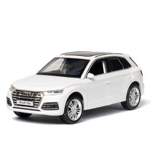 Image 3 - Diecastรุ่น1:32 Scaleใหม่Audi Q5 Sport SUVรถดึงกลับเสียงเด็กของขวัญคอลเลกชันฟรีการจัดส่ง