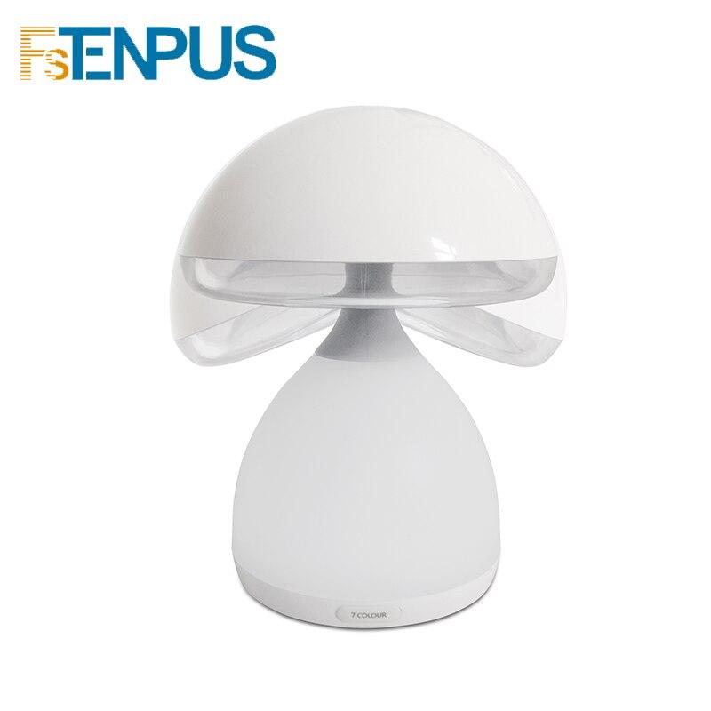 FSTENPUS 7 couleurs modifiable lumière tactile champignon lampe tactile Induction lampe veilleuse avec Base en Silicone antidérapant