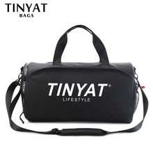 Tinyat вместительная мужская дорожная сумка из ПУ кожи спортивная