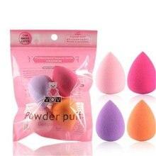 4 pçs mulheres maquiagem esponja sopro ferramenta de maquiagem beleza ovo rosto fundação pó creme esponjas cosméticos puff em pó puff beleza