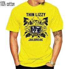 Maglietta sottile Lizzy Jailbreak ophlynott tops Moore Hard Rock nuova maglietta grigio chiaro