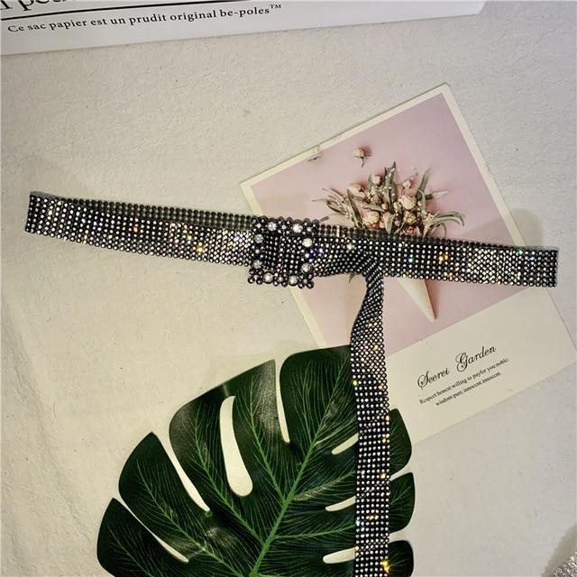 120CM Brilliant Women's Belt Waist Chain Full Rhinestone Crystal Belt Luxury Large Party Waist Belt for 2020 Fashion 6
