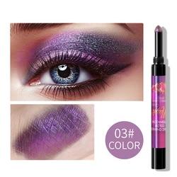 Градиентные блестящие тени для век, палочка, водонепроницаемые, легкие тени, ручка, косметика для быстрого макияжа для женщин, модификация 6 ...