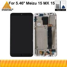 """5.46 """"מקורי סופר Amoled Axisintern לmeizu 15 MX 15 M881 Snapdragon 660 LCD תצוגת מסך + מגע פנל digitizer מסגרת"""