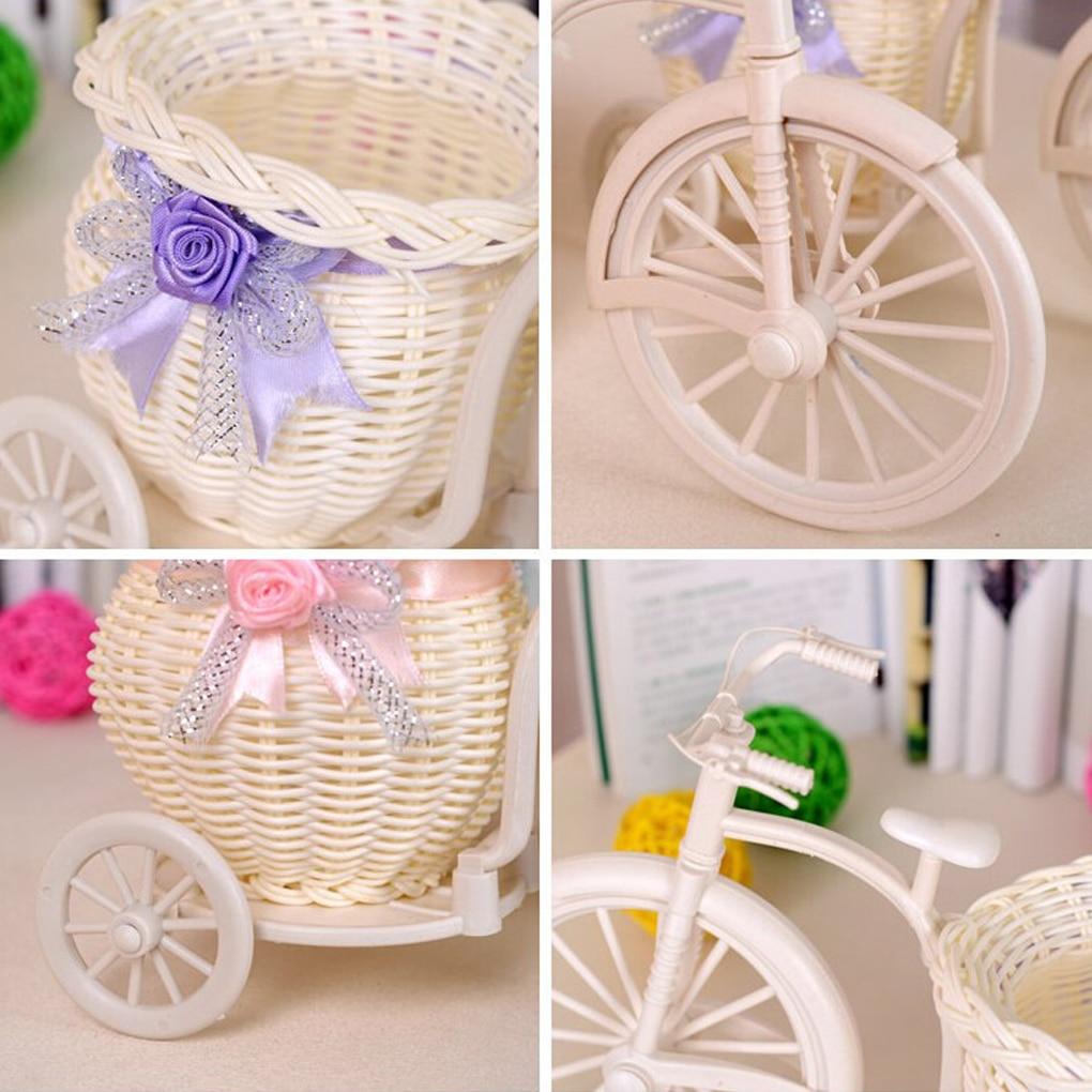 2019 New Bicycle Decorative Flower Basket Tricycle Bike Design Flower Basket Storage Party Decoration Pots Kids DIY Decor Toys | Happy Baby Mama