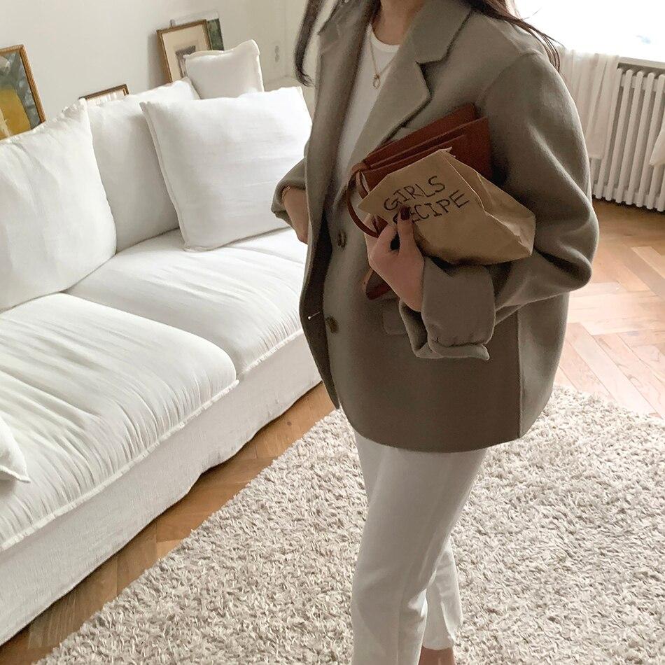 H5056bfe54e604fb482d4e0242ba3a181e - Winter Korean Revers Collar Solid Woolen Short Coat