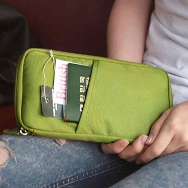 Oxford Fermuarlı Seyahat Pasaport Tutucu Kapak Erkekler Kadınlar Seyahat belge organizatörü Pasaport Biletleri Koruyucu Çanta Nakit Cüzdan