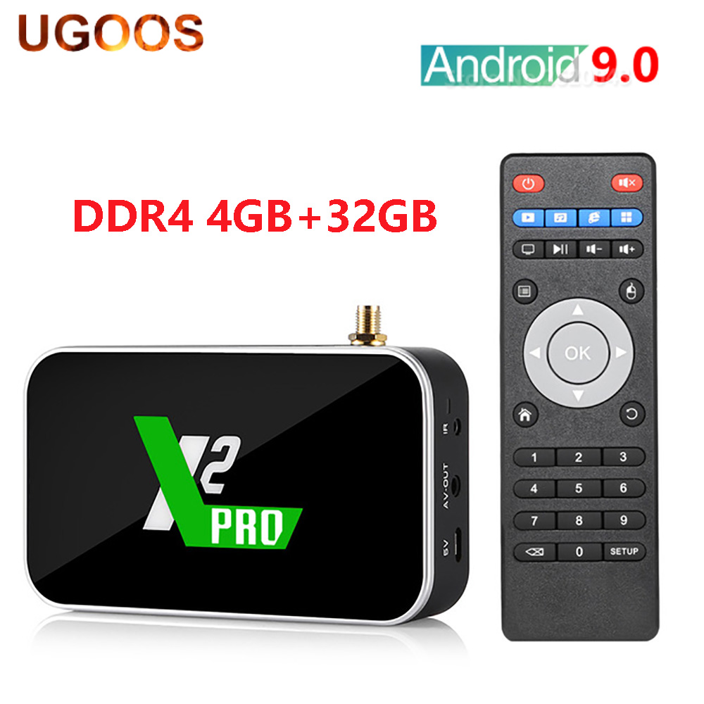 UGOOS X2 PRO Smart Android 9.0 TV Box <font><b>Amlogic</b></font> <font><b>S905X2</b></font> 4GB DDR4 32GB 2.4G 5G WiFi 1000M Bluetooth 4K HD Media Player 2G16G X2 CUBE image