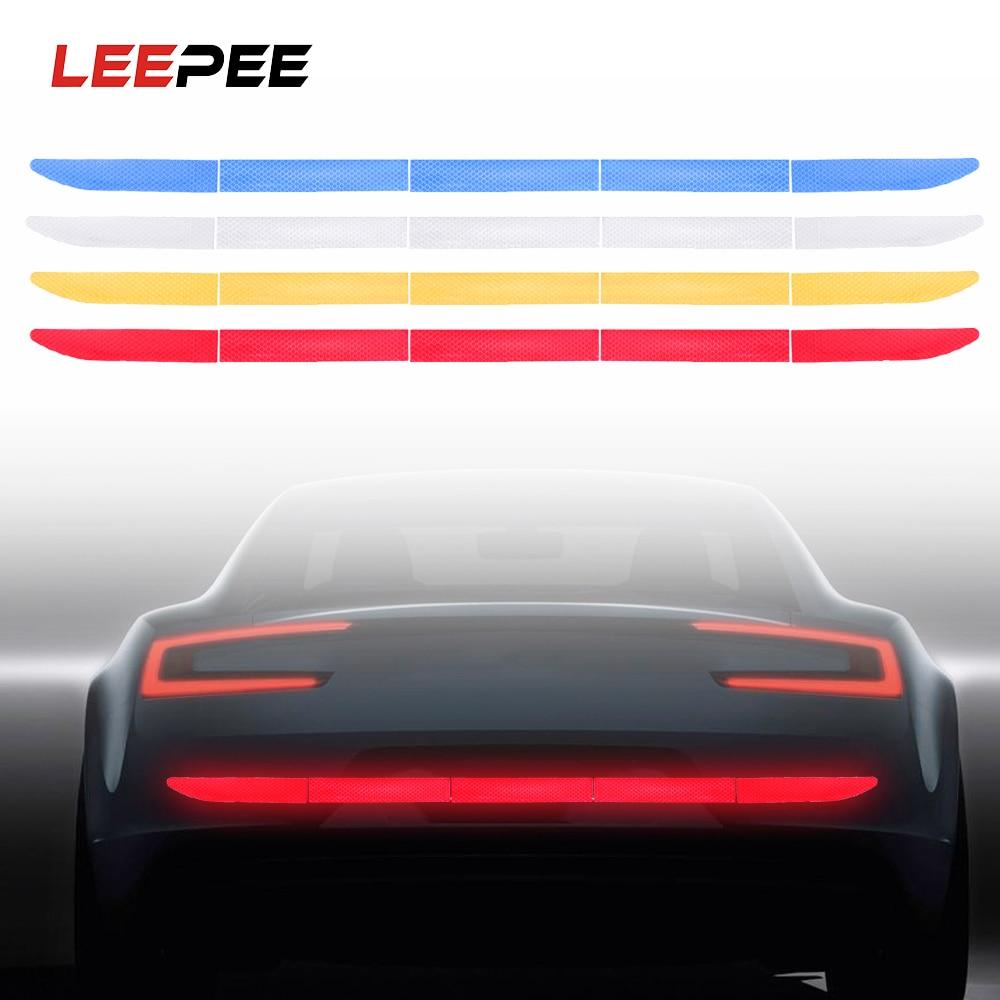 LEEPEE Светоотражающая наклейка для автомобиля Предупреждение ющая наклейка на багажник, полоса, нано лента для безопасности вождения, анти-столкновение, Стайлинг автомобиля