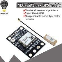 Wavgat GY-NEO6MV2 novo NEO-6M módulo gps neo6mv2 com controle de vôo eeprom mwc apm2.5 grande antena para arduino