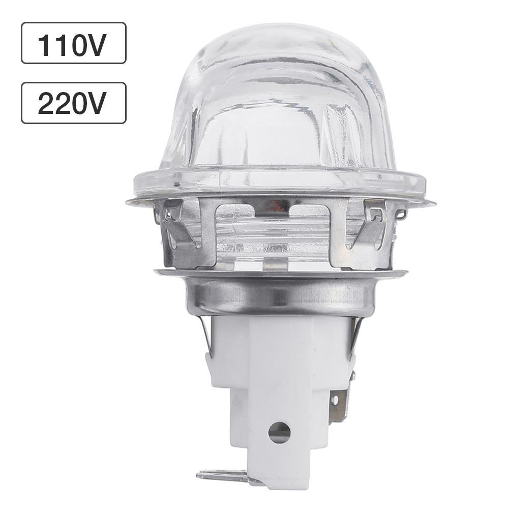 60W 220V Oven Lamp G9 Lamp Holder High Temperature Resistant 300 Degree Safe Microwave Oven Lamp Holder Ceramic Stainless Steel