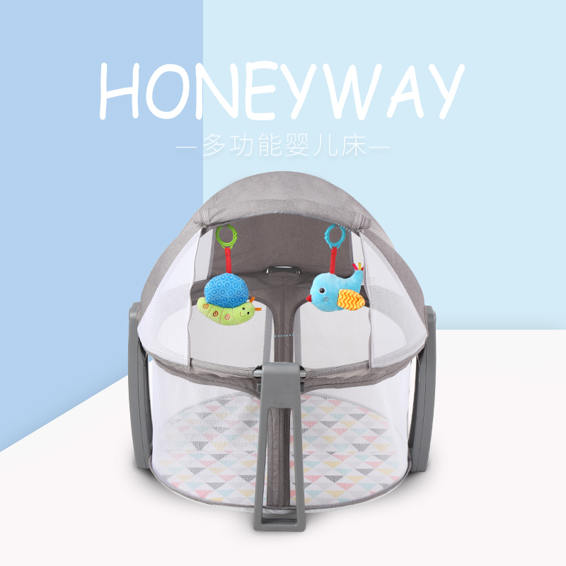 Portable Baby Multi-function Folding Bed Bed Mosquito Net Bed Children Bb Bed Newborn