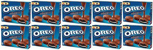 OREO MILK CHOC Biscotto Cacao Con Ripieno Alla Vaniglia Ricoperto Di Cioccolato A Latte 246 Gr. - [Pack 10]