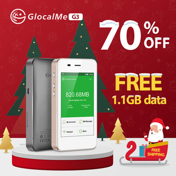 GlocalMe 4G WiFi Router Free Roaming Fast Network Portable