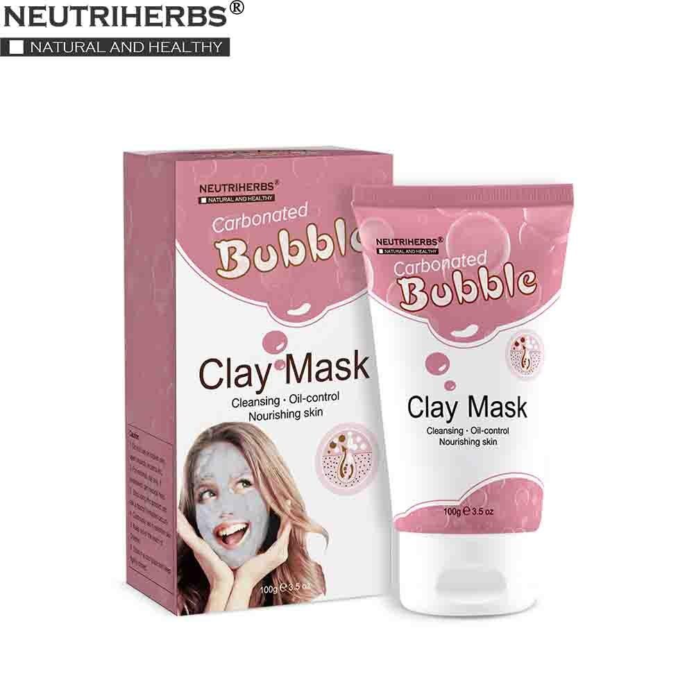 Neutriherbs maschera facciale gassate bolla maschera di argilla per idratante pulizia profonda del viso tutto il viso maschera di bellezza per la cura della pelle
