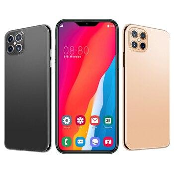 New Global I12 Pro Max Mobile Phone 6.5 inch 8GB RAM 256GB ROM Smartphone 4000mAh Mobile Phone Cheap phone ANDROID 10