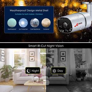 Image 5 - Anrun CCTV نظام الكاميرا الأمنية اللاسلكية نظام مراقبة بالفيديو عدة 1080P HD للرؤية الليلية في الهواء الطلق كاميرا واي فاي المنزل