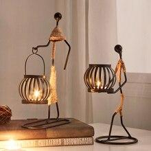 Candelabros decorativos de centro de mesa de Metal para velas, centros de mesa, candelero para jardín, centro de mesa de boda, decoración artística