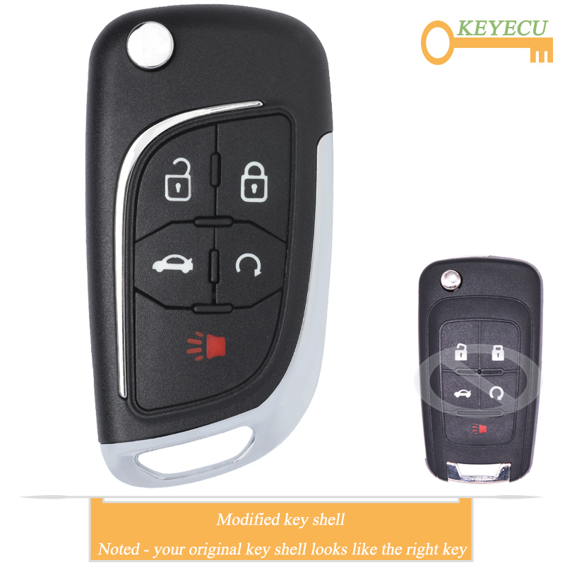 4 Buttons Car Key Fob Cover Case Shell for Chevrolet Chevy Cruze 2010 2012 2011 2014 Camaro Impala Aveo Epica Lova Flip Remote Key housing