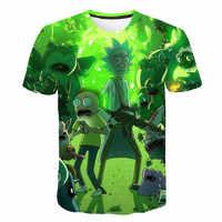 2019 neue Rick und Morty Durch Jm2 Kunst 3D t hemd Männer t-shirt Sommer T-Shirt Kurzarm T-shirts O-ansatz Tops drop Schiff